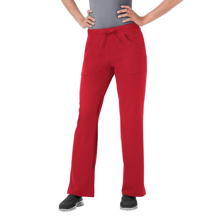 Plus Size Jockey Scrubs Classic Next Generation Comfy Pants, Red