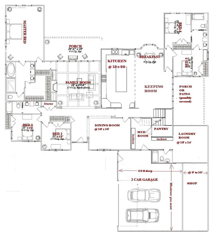 Pinterest Large 1 story house plans