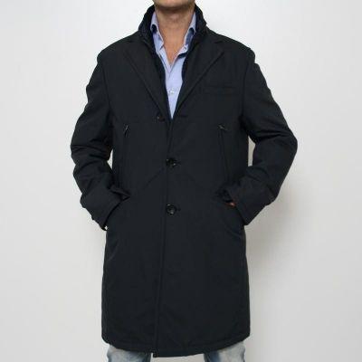 Cappotto Manuel Ritz in tessuto tecnico BLU