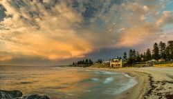 FAR-0007218 © WestPix View of the Indiana Tea house and Cottesloe Beach, Perth. Picture: Farhad Mobarra