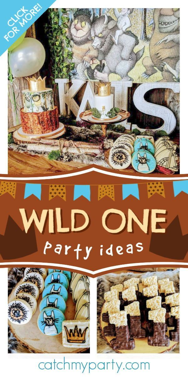 Where The Wild Things Are Birthday Wild One First Birthday Catch My Party In 2020 First Birthdays Boys 1st Birthday Party Ideas Boy Birthday Parties