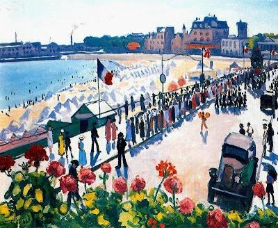 Festivités à Les Sable d'Olonne en 1933, Albert Marquet, français 1875-1947