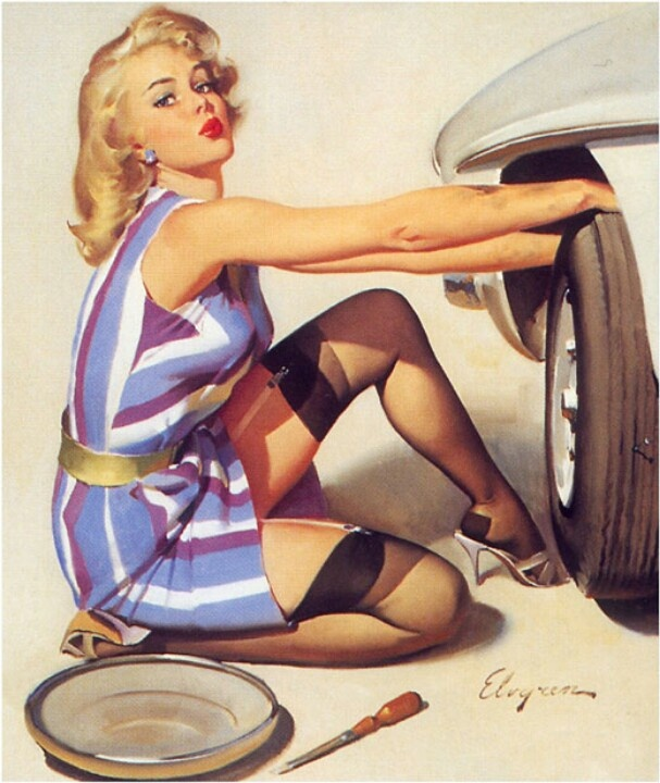 Image result for pin up mechanic