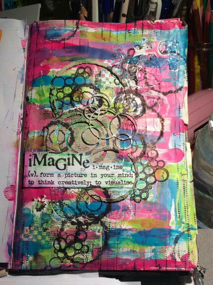 Kerry Sturman on THE DYAN REAVELEY ART JOURNALING Gateway FB Group.