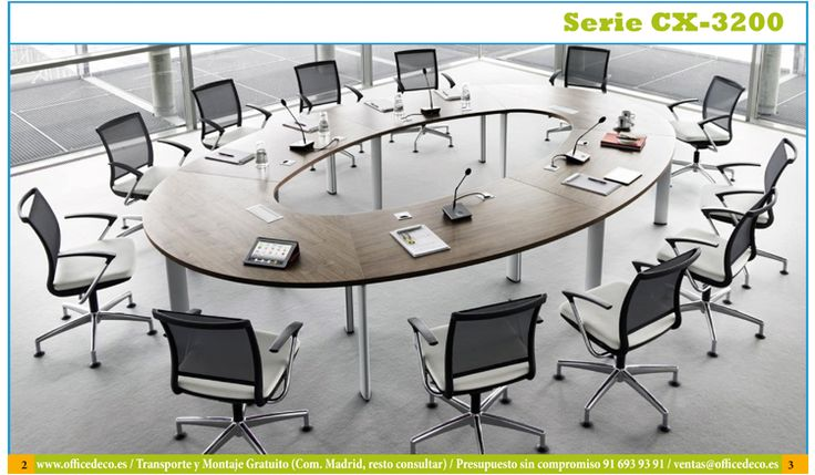 Galer a mesas de juntas y reuniones serie cx3200 for Oficina de infiltrados serie
