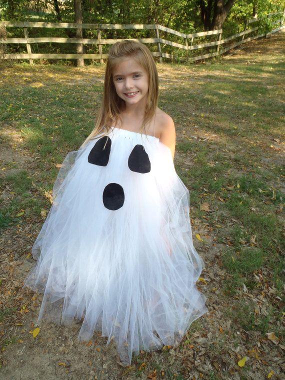 ghost tutu dress halloween costume preemie big girl sizes white ghost halloween tutu - Halloween Tutu Dress