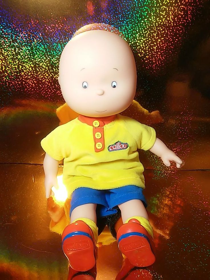 Caillou Doll PBS Kids Fully Clothed Toy Soft Body Plastic Head #PBSKids #caillou