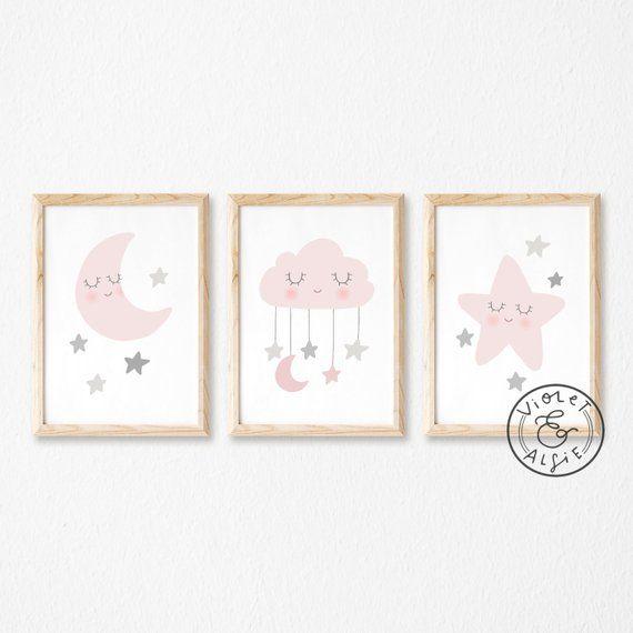 Pink And Grey Nursery Prints Cute