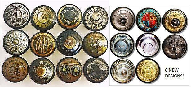 Antique Safe Dials - Dresser Knobs - Steampunk, Yale, Vintage, Rusty, Grungy, Old, Mancave, Office, Desk - Drawer Pull, Cabinet - 815Z8 by WallpaperYourWorld on Etsy https://www.etsy.com/listing/246923854/antique-safe-dials-dresser-knobs