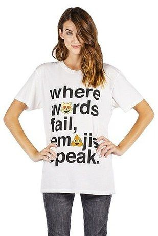 A shirt that speaks for itself. | 19 Perfect Gifts To Buy For The Emoji Lover In Your Life