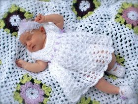 """Sarahndipities ~ fortunate handmade finds: Things to Make: Blessing Dress and Blanket [   """"I"""
