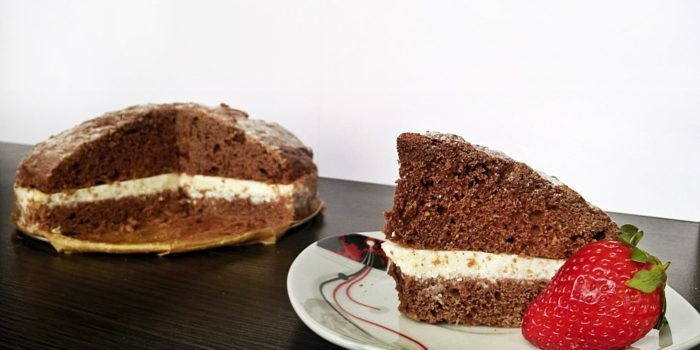 Cukiniowy tort z kremem