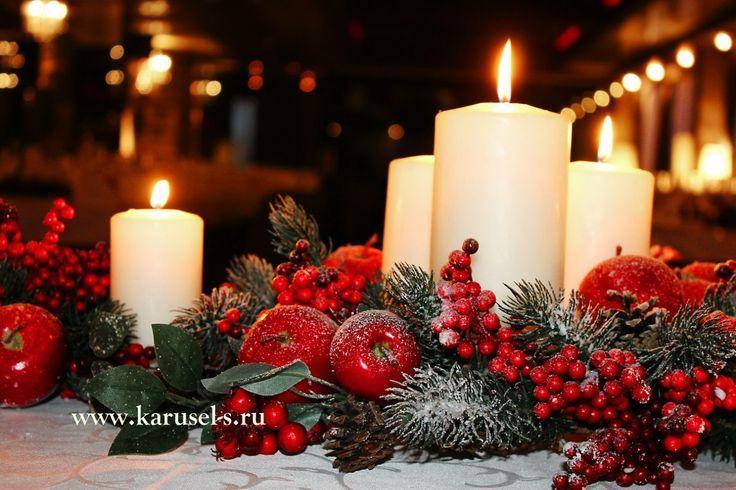 Зимняя свадьба(шишки,рябина,свечи) – 35 фотографий