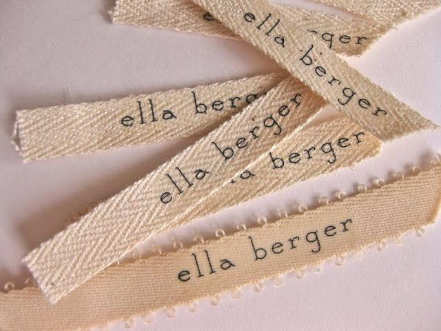 paper & ink: diy: fabric label name tags - Tutorial