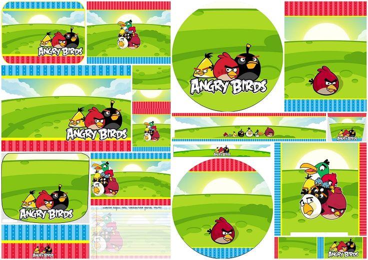 Angry Birds Birthday Party: ingyen nyomtatható meghívók és Candy Bar címkék.