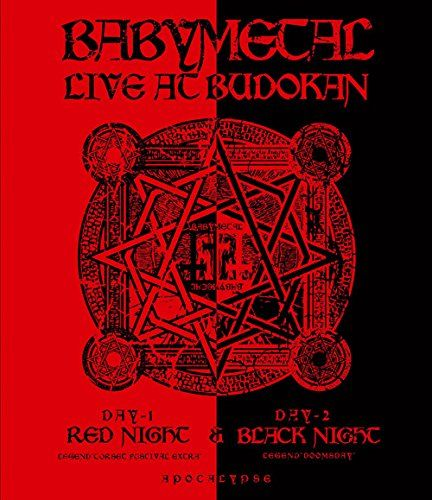 BABYMETAL LIVE AT BUDOKAN~ RED NIGHT & BLACK NIGHT APOCALYPSE ~ [Blu-ray] - ¥5,834