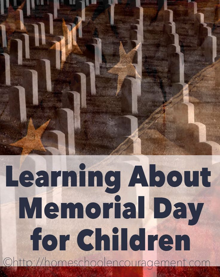 Learning about Memorial Day for kids with websites, activities, games, crafts, food, and more.