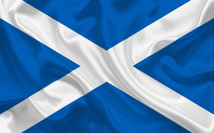 Herunterladen hintergrundbild schottische flagge, schottland, europa, flagge von schottland