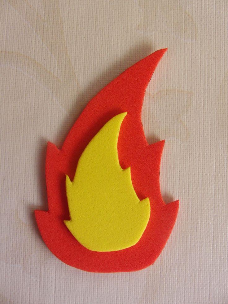 Broche de llama para Fallas, Hogueras...