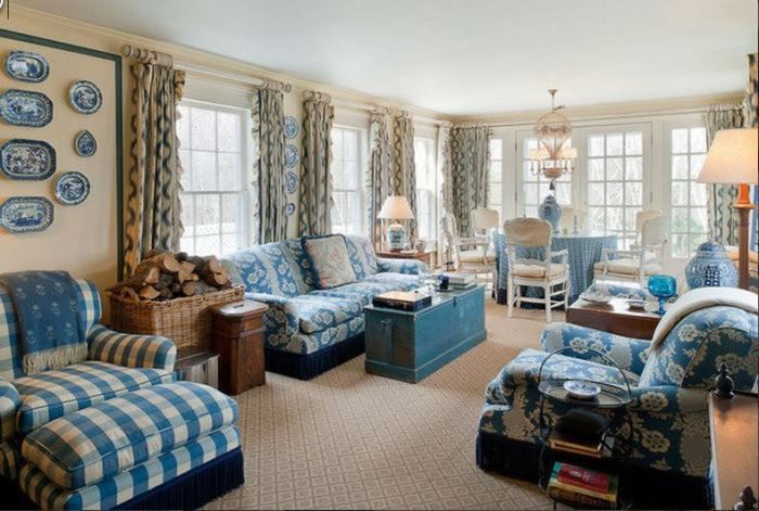 PICK AND CHOOSE YOUR BLUE:  Tour Blaine Trump's Greek Revival Millbrook Home:  BetweenNapsOnThePorch.net