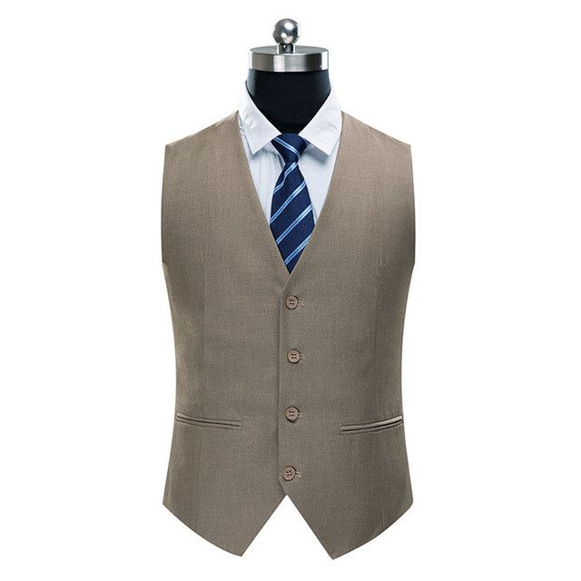 FGKKS New Arrival Casual High Quality Brand Men's Vest Fashion Slim Fit Men's Solid Color Suit in 4 colors Out of the Case