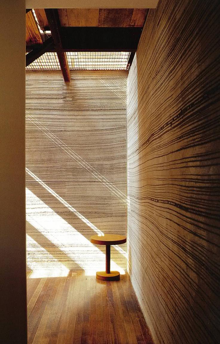 Sean Godsell - Carter Tucker House.  Raked cement render
