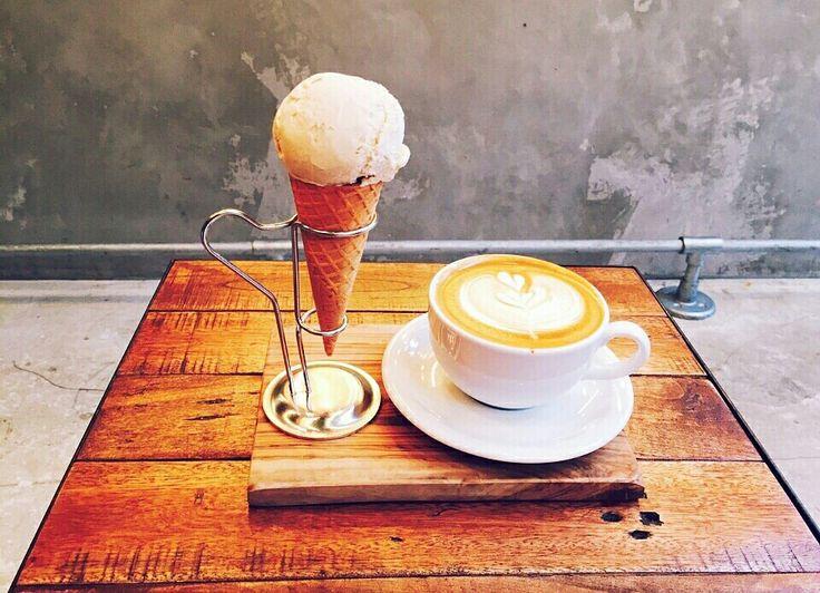 Mighty steps coffee stop  Icecream×latte