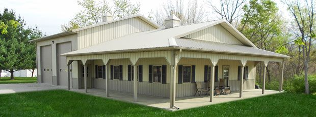 Barn Living Pole Quarter With Metal Buildings | Residential Buildings | Graber Buildings, Inc.