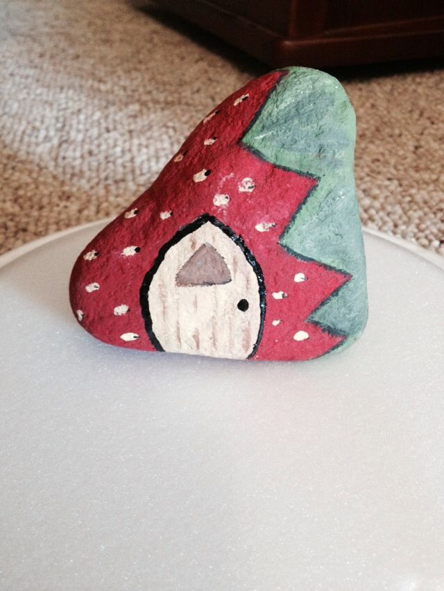 Strawberry garden fairy house