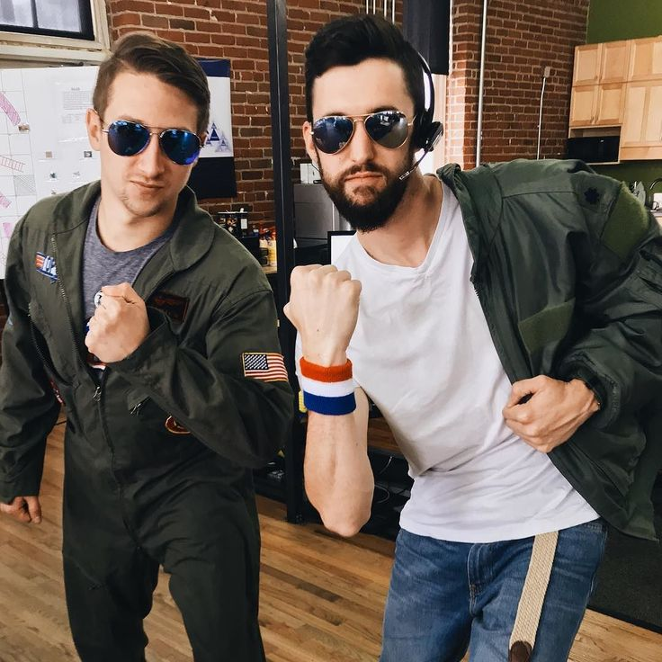 When it's Halloween in the office and you and a coworker tackle two different scenes of the same character's movie. Cue the music Kenny Loggins! We're in the Danger Zooooooone  #volleyball #yourewelcome #topgun #signpost #halloween #halloweencostume #boysarebackintown #dangerzone #kennyloggins