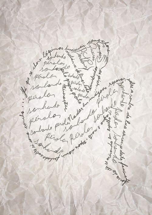La poesía visual es una forma experimental en la que la imagen, el elemento plástico, en todas sus facetas, técnicas y soportes, predomina sobre el resto de los componentes.