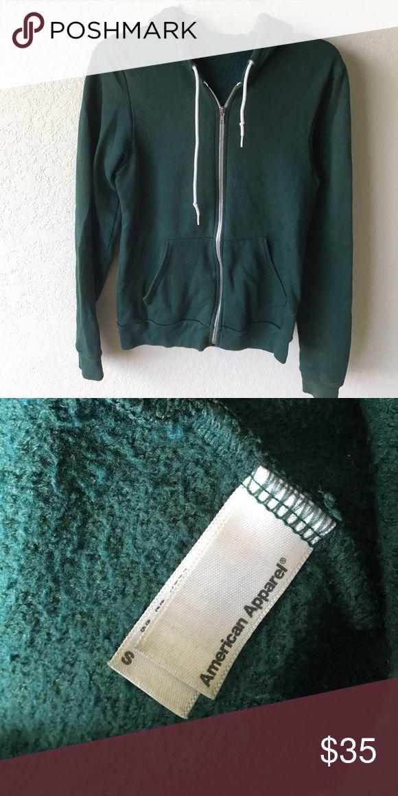 American Apparel green zip up hoodie American Apparel green zip up hoodie American Apparel Jackets & Coats