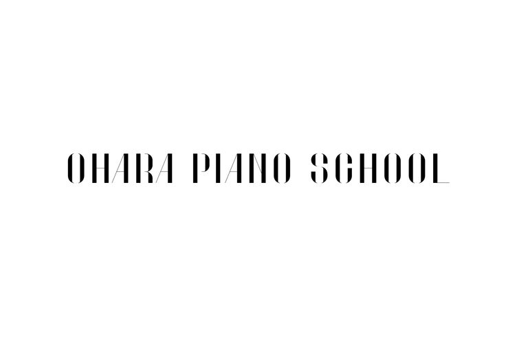 OHARA PIANO SCHOOLおはらピアノ教室のロゴタイプ・発表会のグラフィック。