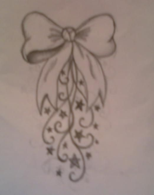 Bow Swirl Tattoo Design by average-sensation.deviantart.com on @deviantART
