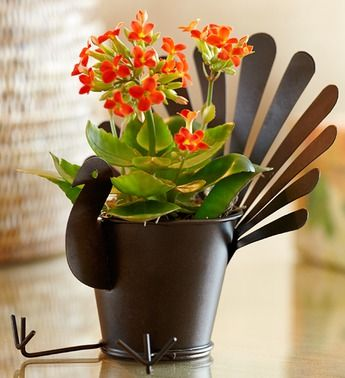 Bring smiles to the Thanksgiving table with our truly original turkey planter.