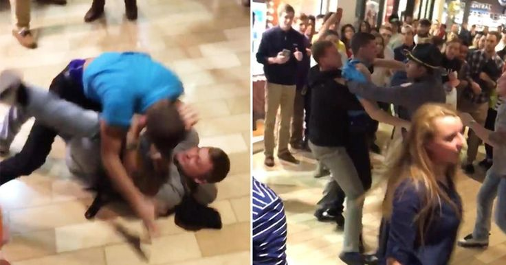 Black Friday brawls broke out all over the country starting on Thanksgiving. <<<<<<<}Idiots