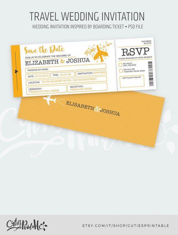Travel Wedding Invitation Set Boarding Pass Wedding Invitations Plane Ticket Invitations Psd File Instant Download Boarding Pass Wedding Invitation Travel Wedding Invitations Wedding Invitation Sets