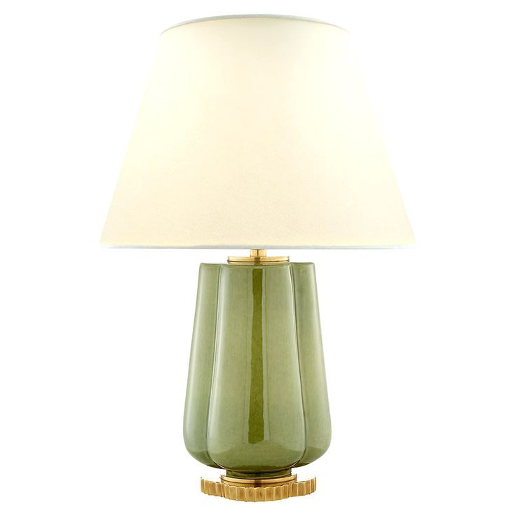 Grünes Glas Tischlampe