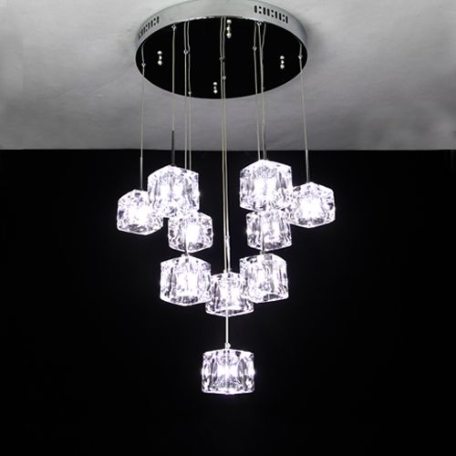 Crystal pendant light dining room pendant light fashion ...