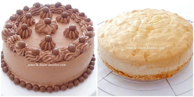yetur'la lezzet kareleri: Heca döküm tencerede sünger pandispanya - 5 ve çikolatalı yaş pasta