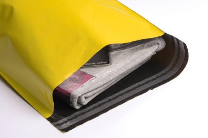 Farbige Versandbeutel (Klappenbeutel) Gelb DIN C4 - folienmailer Versandtaschen aus Kunststoff
