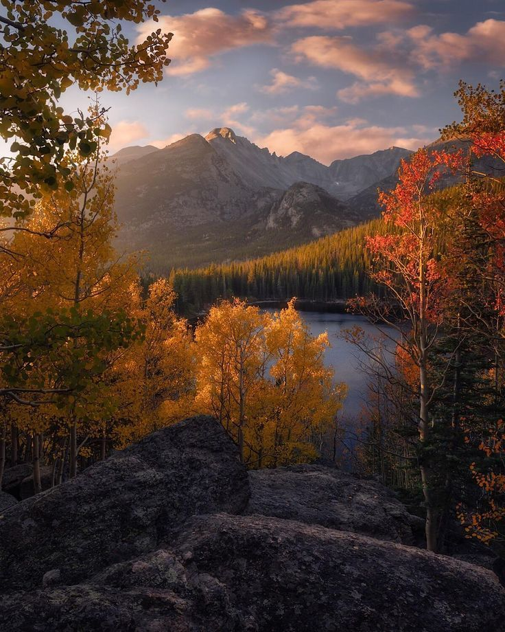 Nature Beautiful Scenery An Autumn Sunrise In The Rockies Rocky Mountain National Park Oc Nature Photography Beautiful Photography Nature Autumn Scenery