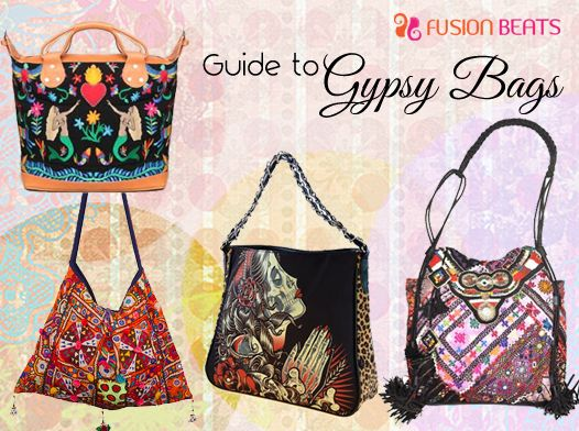 How can you recognize gypsy bags? They are multi colored with brown or black base and features various danglers and prints.