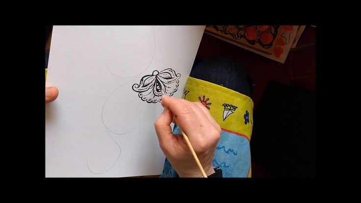 Цветок завиток кудрина . Основные элементы кудрины часть 1.
