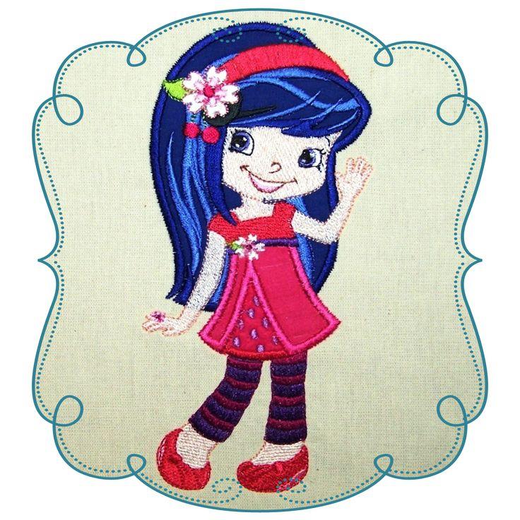 Strawberry Shortcake Applique Machine Embroidery Design Patterns