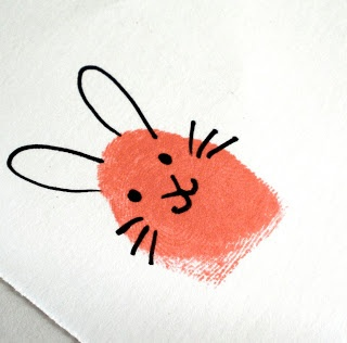 Sarahndipities ~ fortunate handmade finds: Things to Make: Fingerprint Bunnies and Chicks!!!!