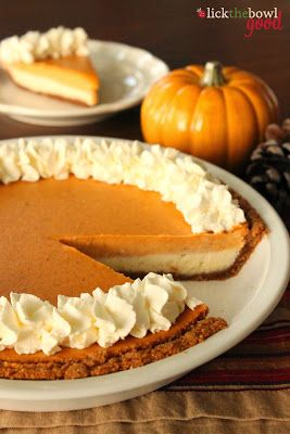 Lick The Bowl Good: Happy Thanksgiving 2013! Pumpkin Cheesecake Pie