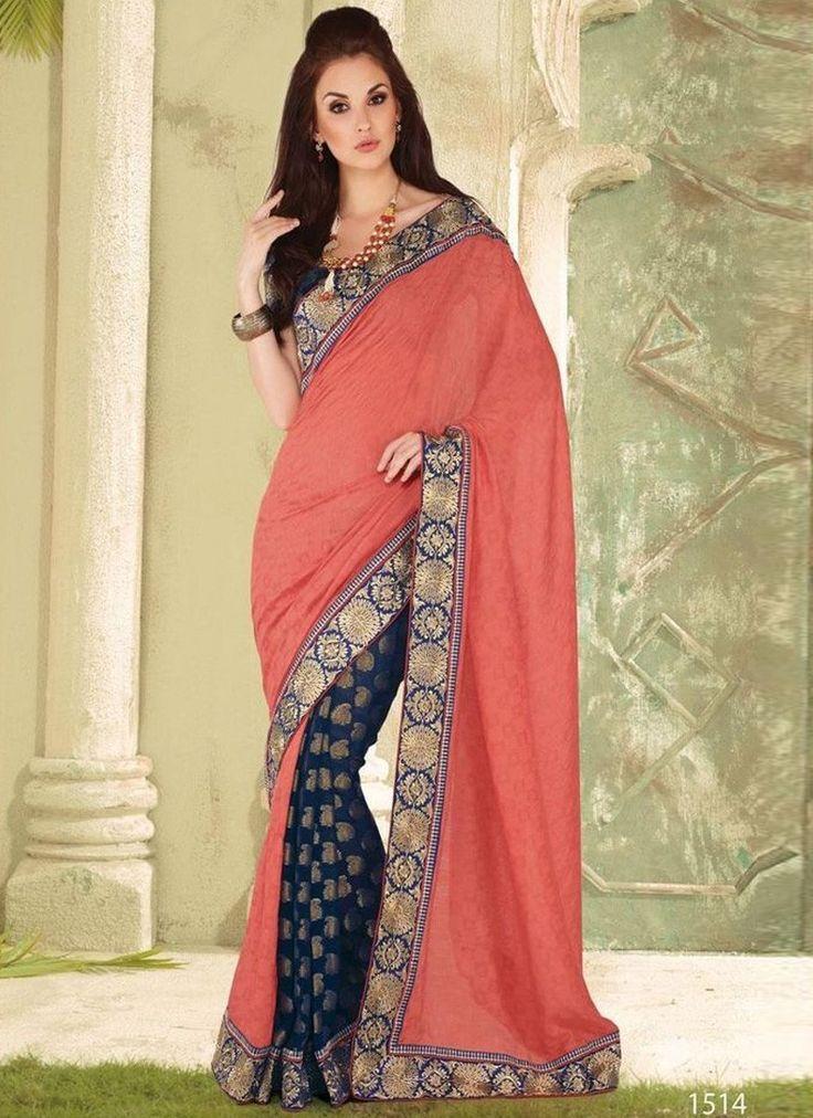 Light #Pink Festival Wear #Saree  For More Saree Check this page now :-http://www.ethnicwholesaler.com/sarees-saris