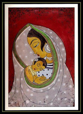 Madonna and child, India