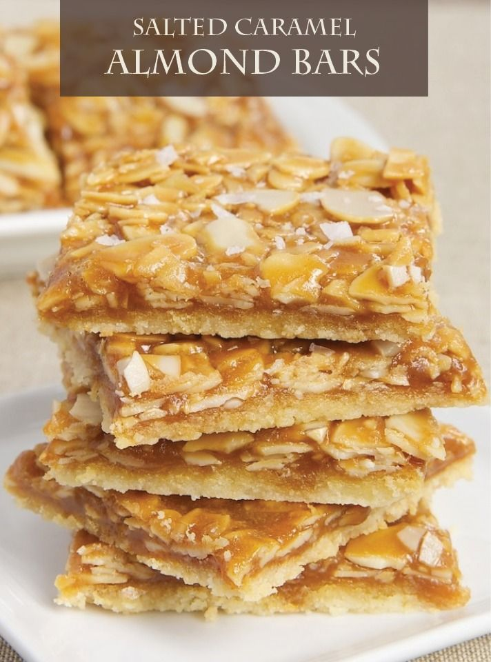 Salted Caramel Almond Bars are a great way to enjoy salted caramel ...